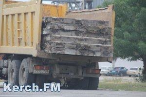 Из Крыма вывозят плиты аэродрома Багерово