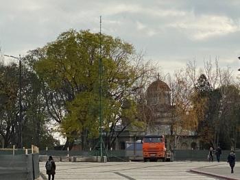 В Керчи уже собирают главную новогоднюю елку